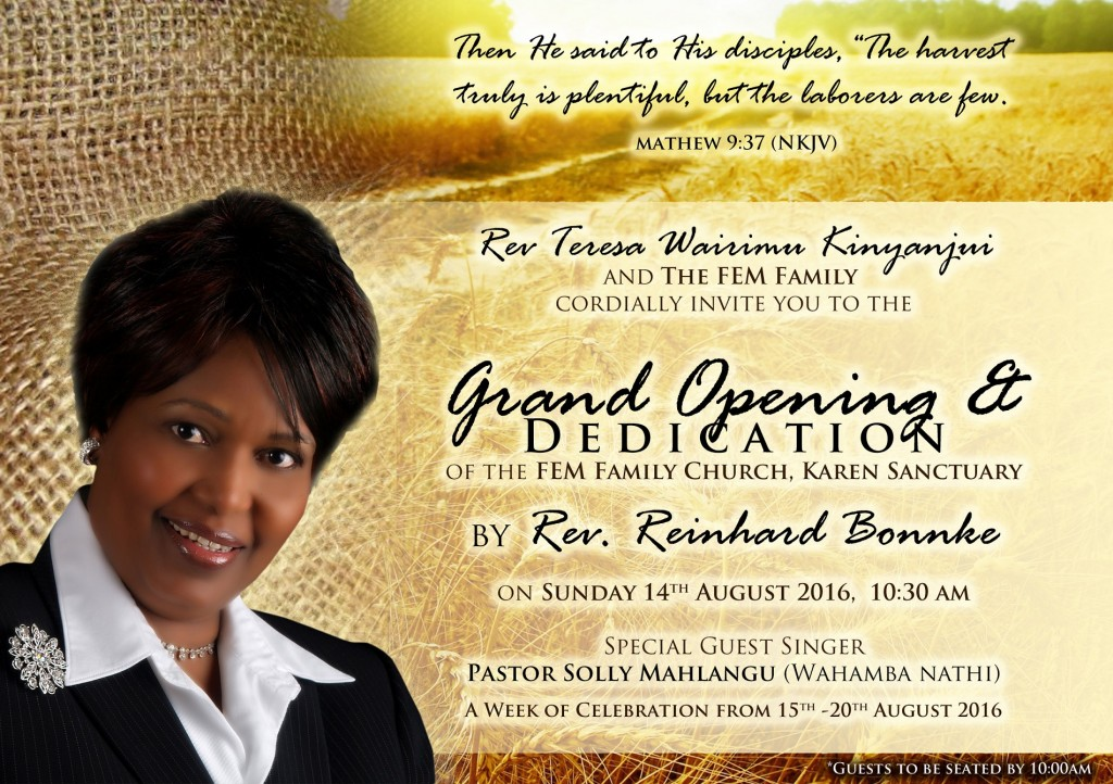 Grand Opening And Dedication Of Fem Family Church Harold Eatmon